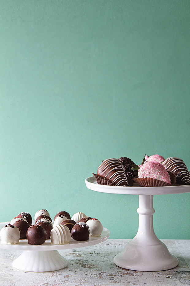 Cake Truffles and Chocolate Covered Strawberries