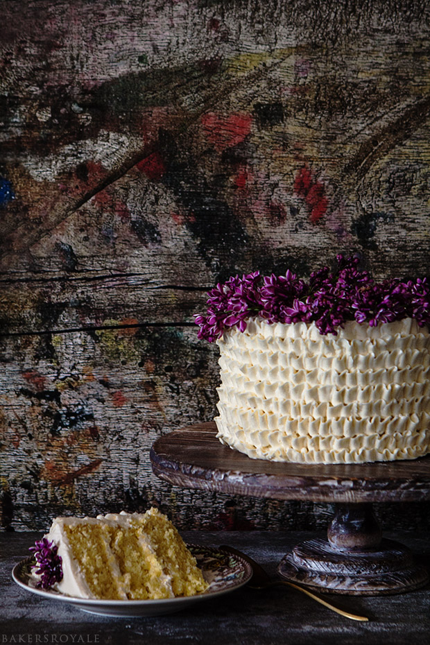 Lemon and Lilac Cake | Bakers Royale