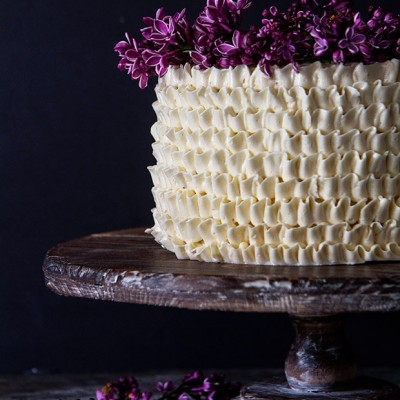 Lemon and Lilac Cake via Bakers Royale