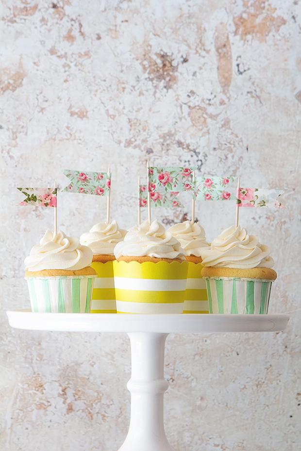 Classic Vanilla Cupcake via Bakers Royale