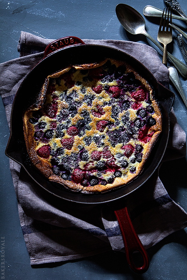 Mixed Berry Dutch Baby via Bakers Royale