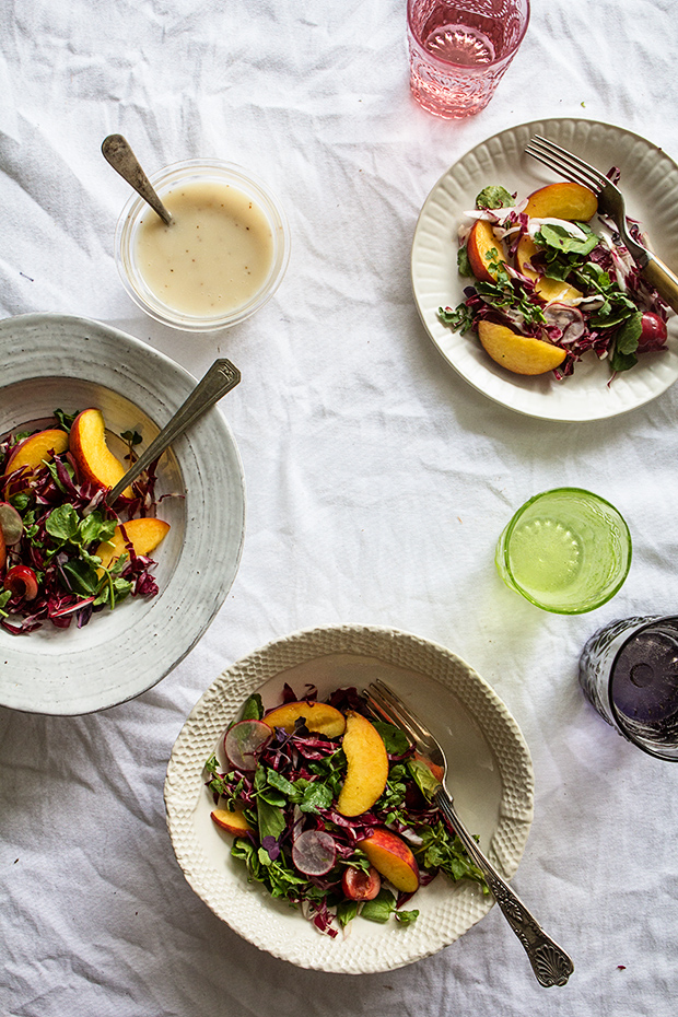 Radicchio, Peach and Cherry Salad | Bakers Royale