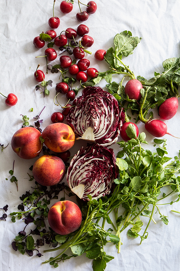 Radicchio, Peach and Cherry Salad   Ingredients   Bakers Royale