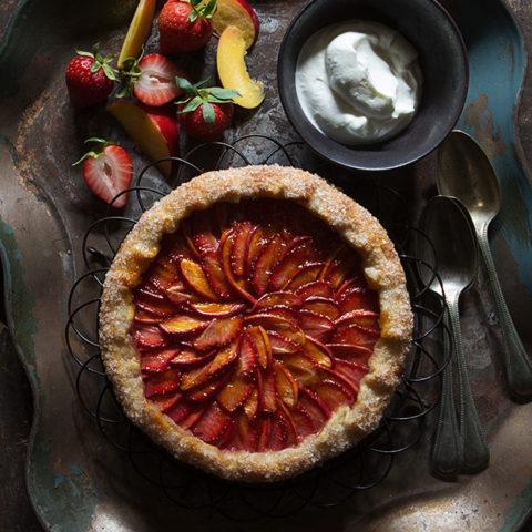 Strawberry and Nectarine Galette