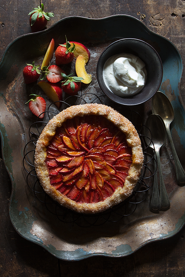 Strawberry and Nectarine Galette