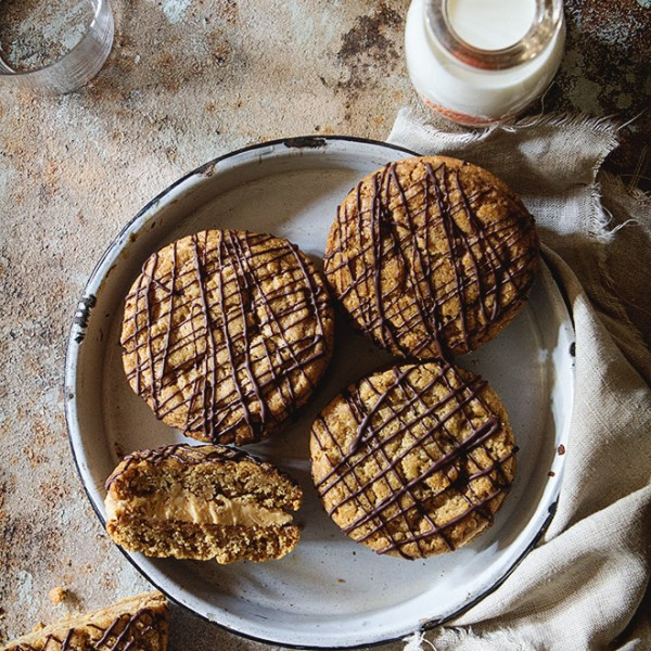 Soft and Creamy Peanut Butter Sandwich Cookies Bakers Royale 600x600