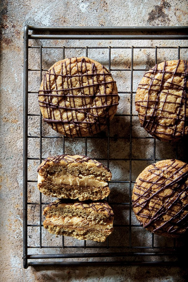 Soft and Creamy Peanut Butter Sandwich Cookies via Bakers Royale