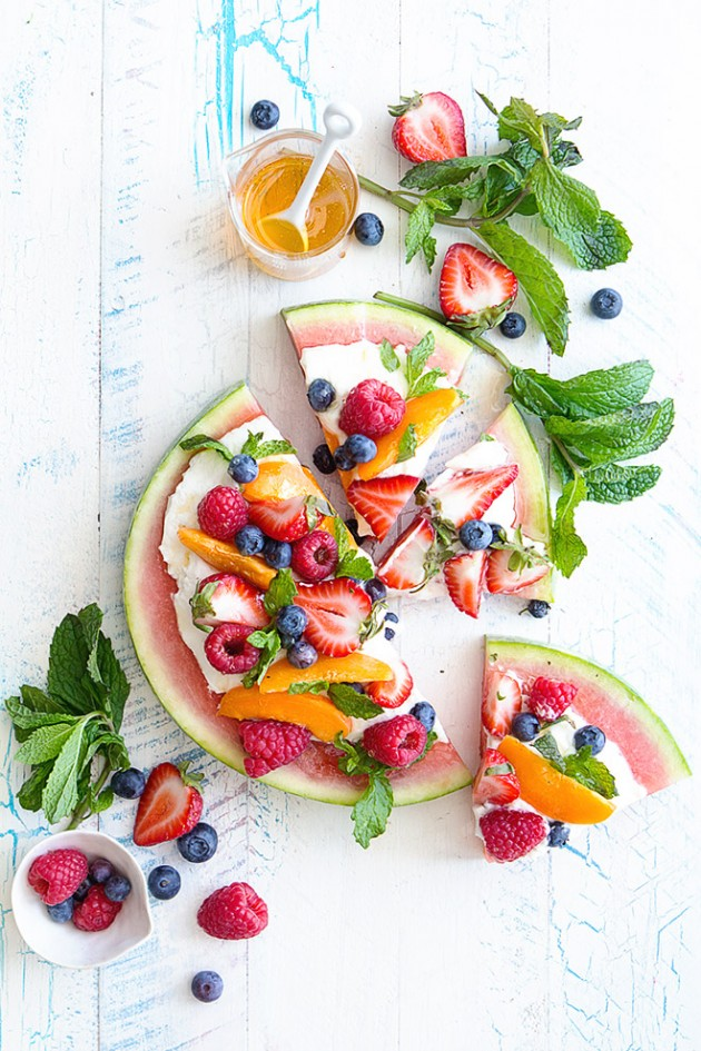 ... fruit pizza to clean out your the bits and pieces of fruit lying