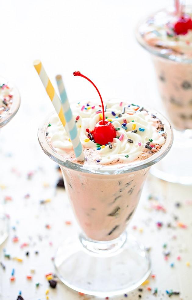 Oreo Neapolitan Milkshake via Bakers Royale