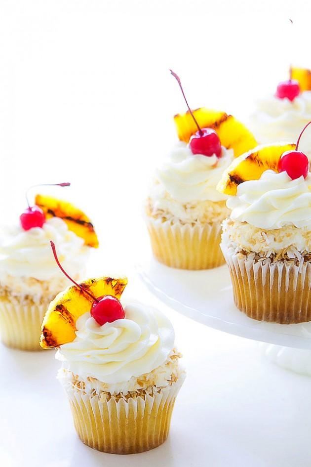Pina Colada Cupcakes | Bakers Royale