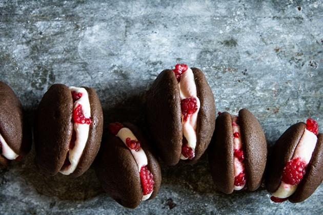 Chocolate Raspberry Whoopie Pies _ Bakers Royale