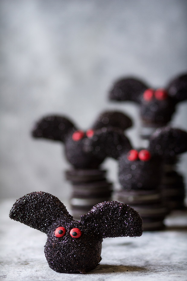 Oreo Truffle Bats via Bakers Royale