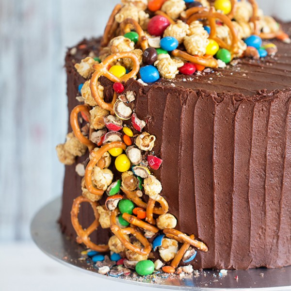 Chocolate Birthday Cake via Bakers Royale
