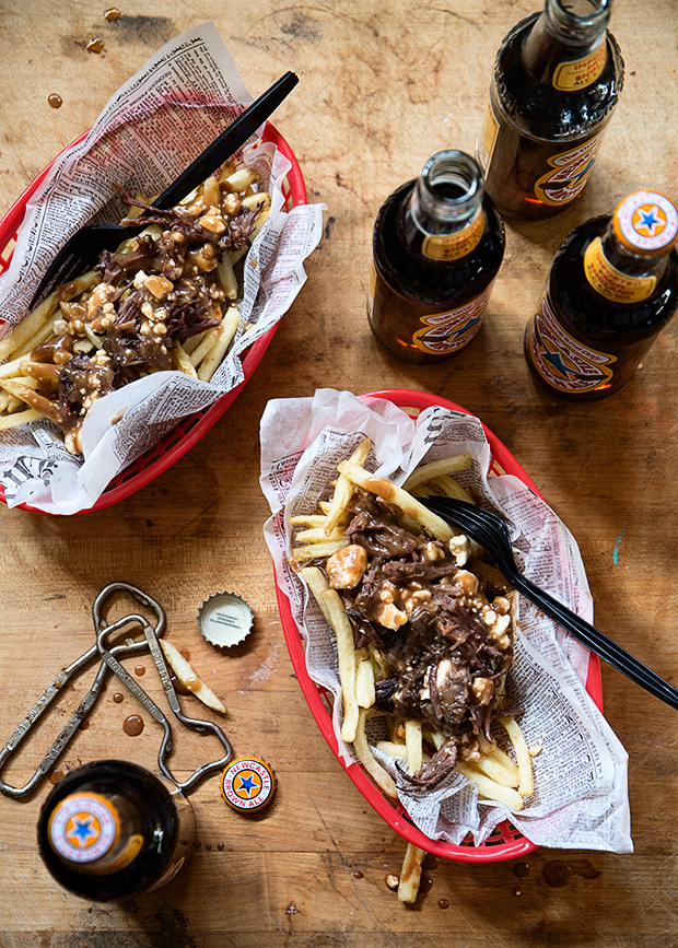 Newcastle Brown Ale-Braised Short Rib Poutine