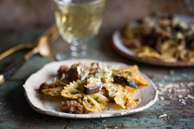 Sausage and Mushroom Pasta _Baker Royale