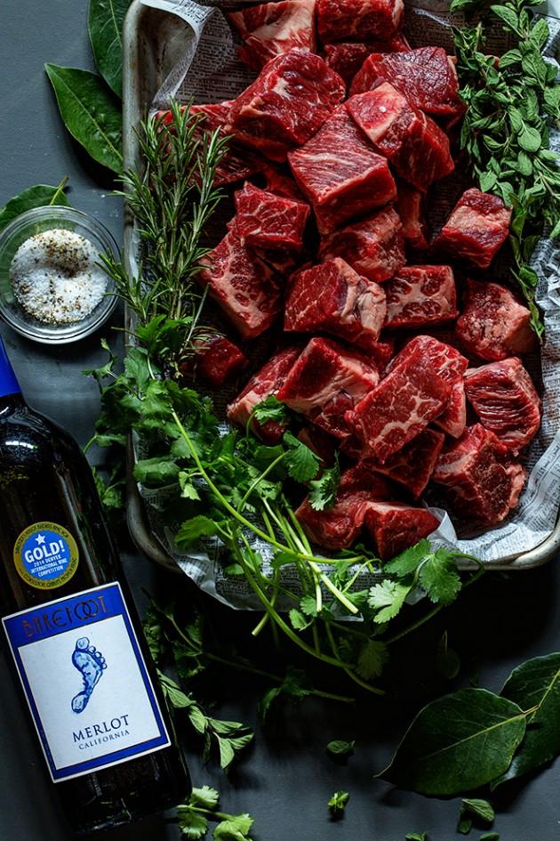 Wine Braised Short Ribs | Ingredients | Bakers Royale