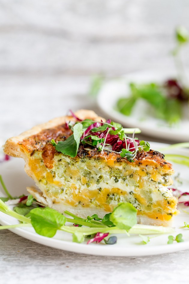 Broccoli and Cheddar Quiche   Bakers Royale