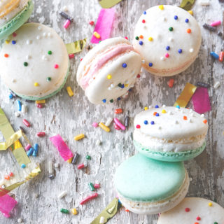 Cake Batter Macaron via Bakers Royale