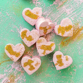 Raspberry Champagne Marshmallows via Bakers Royale