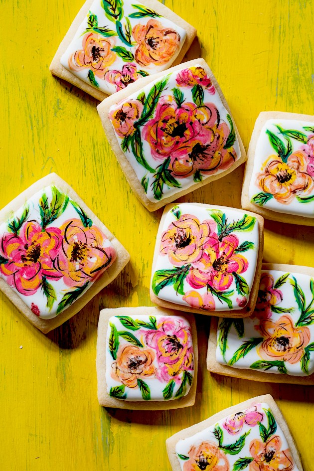 Hand Painted Flower Cookies | Bakers Royale