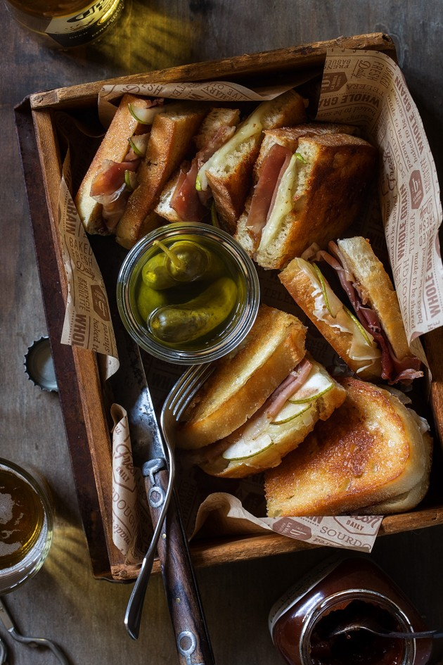 Apple Chutney and Prosciutto Melt with Gruyere and Pears | Bakers Royale