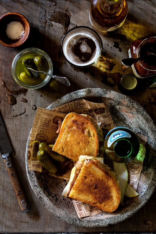 Apple Chutney and Prosciutto Melt with Gruyere and Pears via Bakers Royale copy