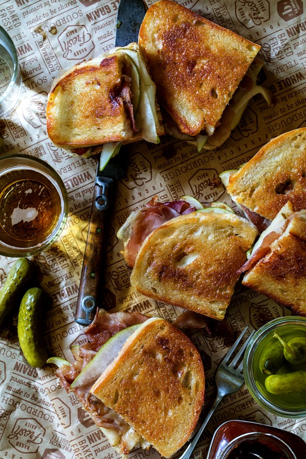 Apple Chutney and Prosciutto Melt with Gruyere and Pears_Bakers Royale copy