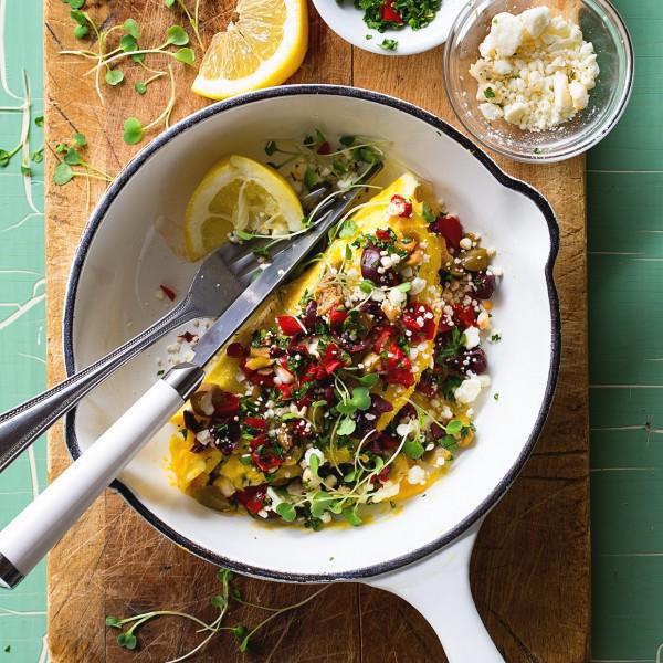 Mediterranean Omelette via Bakers Royale 600x600