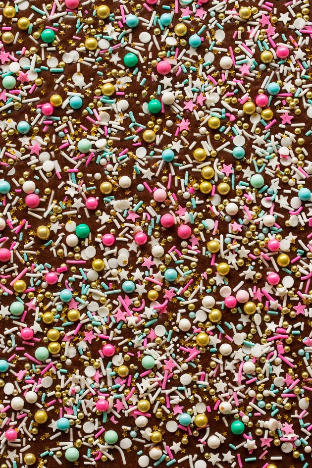 Chocolate Sprinkle Sheet Cake | Bakers Royale
