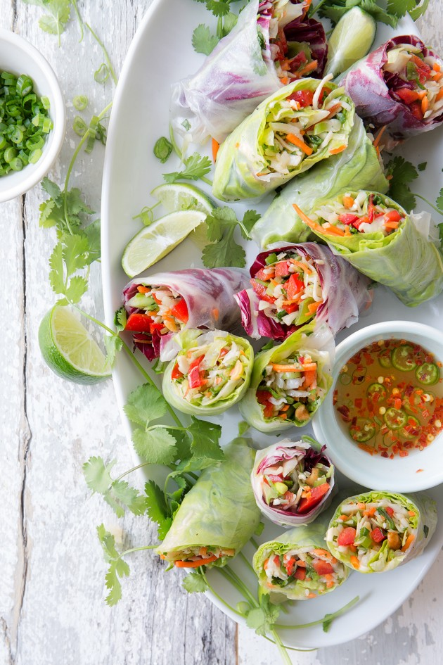 Chinese Salad Spring Rolls