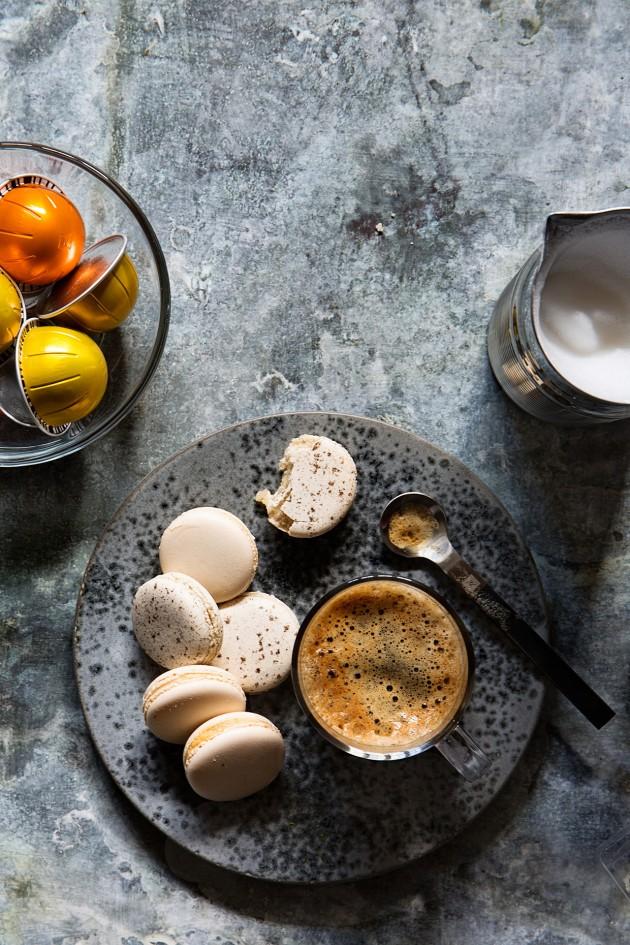 Vanilla Frappe Macarons