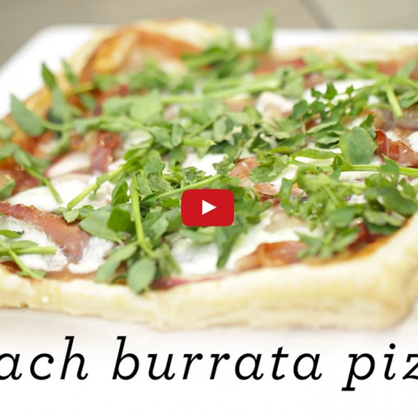 Peach Burrata Pizza Video