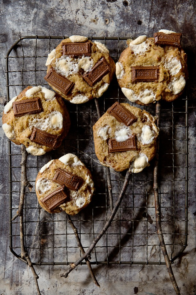 S'mores Cookies on a Stick