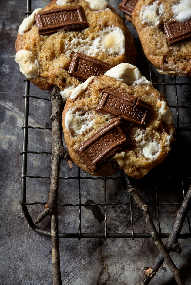 S'mores Cookies on a Stick - Bakers Royale