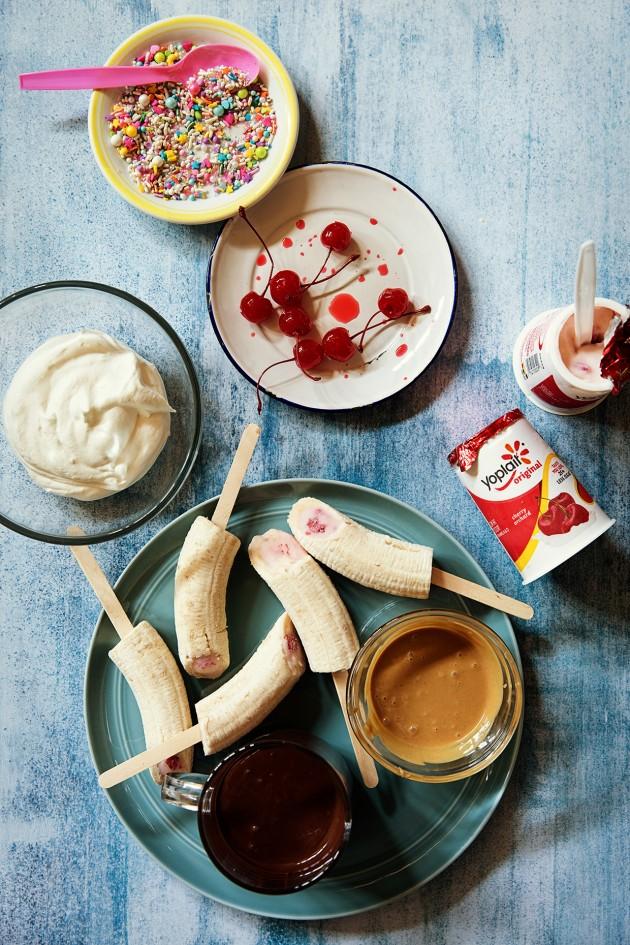 Banana Split Popsicles via Bakers Royale copy