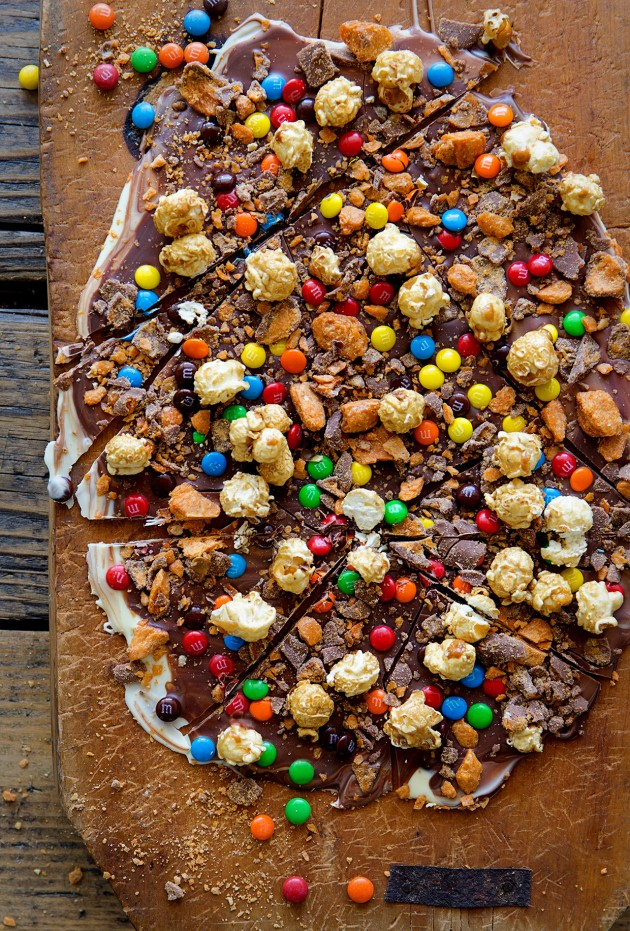 Caramel Popcorn Candy Bark | Bakers Royale