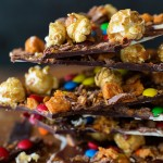 Caramel Popcorn Candy Bark via Bakers Royale