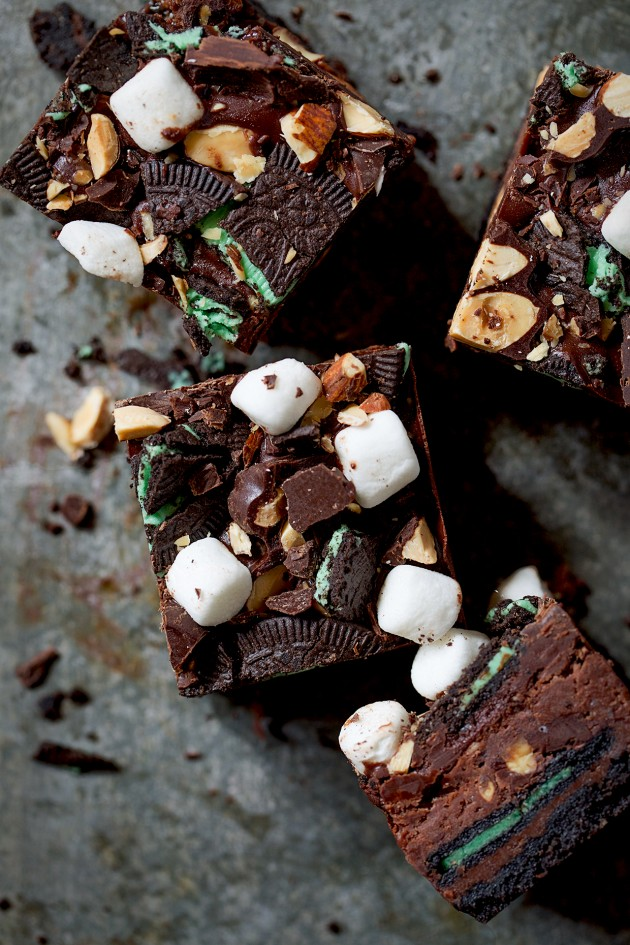 {Video} Chocolate Mint Rocky Road Bars