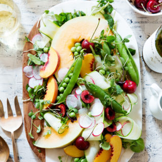 Shaved Zucchini and Summer Fruit Salad | Bakers Royale