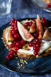 Fig and Currant Toast with Whipped Honey Mascarpone