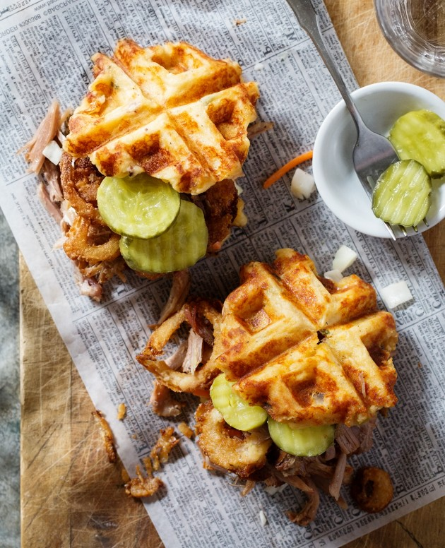 waffled-pulled-pork-sliders-bakers-royale