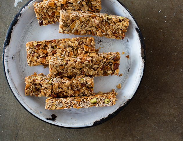 Mango and Coconut Granola Bars