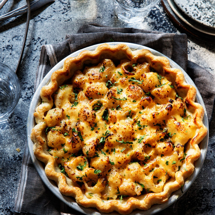 Meaty Mac and Cheese Pie