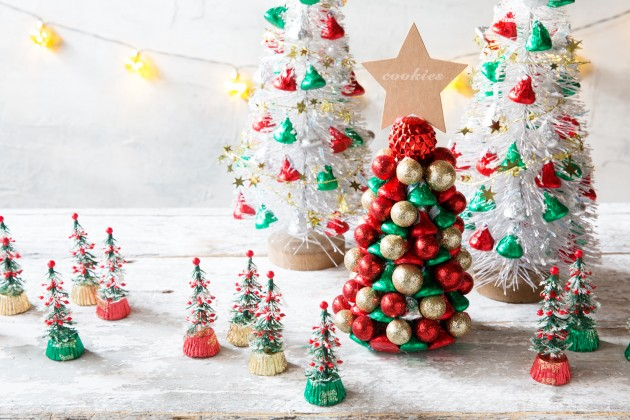 Candy Christmas.Candy Christmas Trees