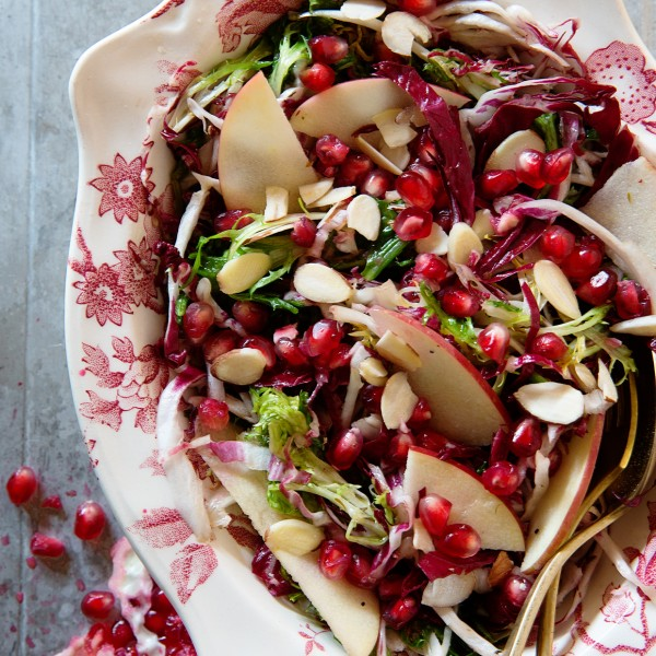 Apple and Pomegranate Frisee Salad Bakers Royale 600x600