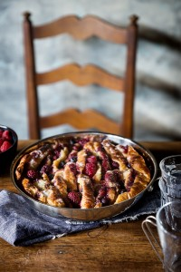 Mixed Berry Croissant Bread Pudding