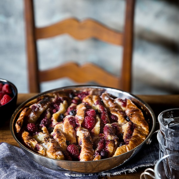 Mixed Berry Croissant Bread Pudding Bakers Royale  600x600