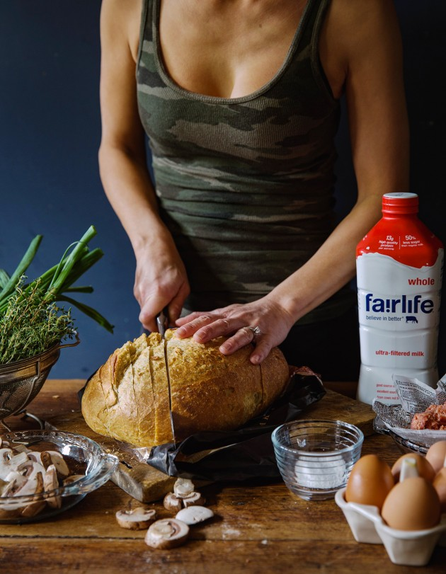 sausage-and-mushroom-bread-pudding-process-shot-bakers-royale
