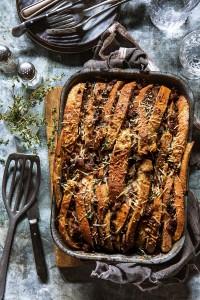 Sausage and Mushroom Bread Pudding