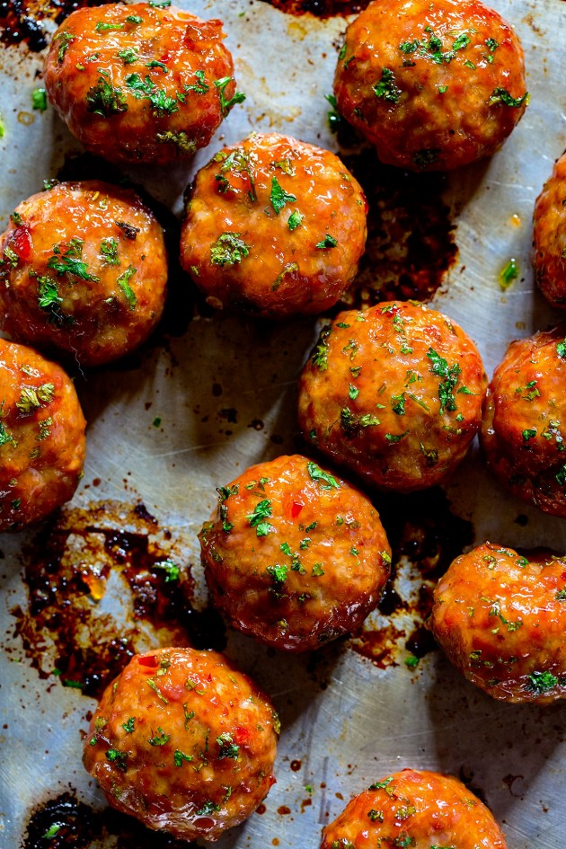 Orange Chicken Meatballs - Bakers Royale copy